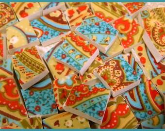 China Mosaic Tiles - MoRoCCaN PAiSLeY - 100 Mosaic Tiles