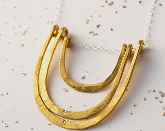 Long Golden Arch Necklace