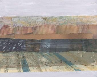 Ocean Beach - Abstract Art Collage
