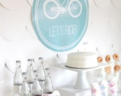 PRINTABLE bicycle party decor, labels and signs- essential party kit by kojodesigns