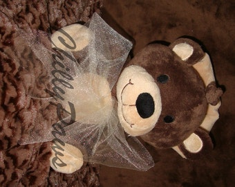 NAP like you mean it with our Cuddle BEAR - Squeaker Toy - Dog  Toy - Baby Toy - Minky Toy -Includes Embroidered Personalization