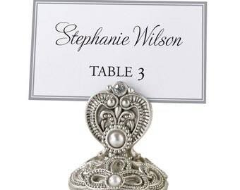 Table Markers Place Card Holders Pearls Vintage Sold in sets of 4