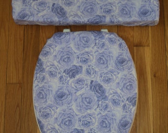 Lavender Purple Rose ... Toilet Seat Cover Set