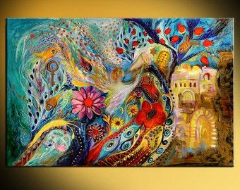 "Original wall art interior design giclee canvas print ""Hills of Jaffo"" Home & Living Bible story print Wall Decor Housewares Wall hangings"