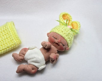 Sale** Rose a One of a Kind Miniature Soft Sculpture Baby Doll by BeBe Babies