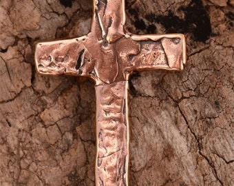 Cross Pendant in Copper Rose Bronze 612cr, Unconditional Love Cross