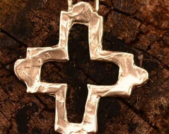 Bronze Southwest Open Cross Pendant