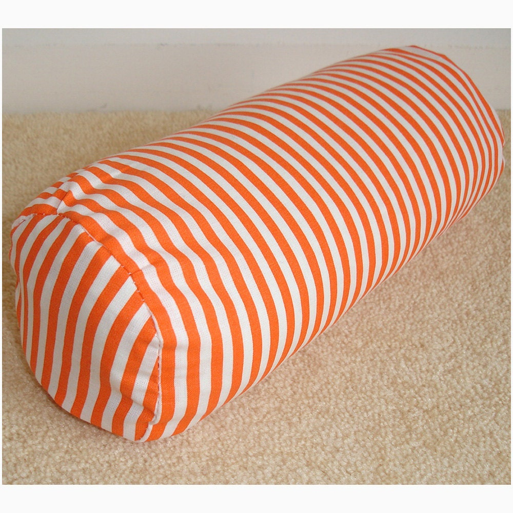 Long Round Decorative Pillow : 16 x 6 Rounded-end Bolster Pillow Cover Round