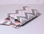 iPhone Wallet Cell Phone Wristlet Smartphone Wallet Card Holder iPhone Case / Galaxy Moto X Nexus NEW STYLE TECH / Pink Gray White Chevron