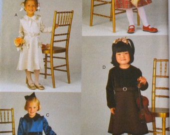 UNCUT Sewing Pattern Vogue 9736  Girl Dress Size 6-8 Uncut and Complete