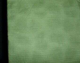 Mottled green plaid fabric - 1 yard 32 inches x 38