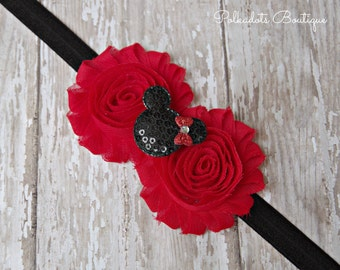 Minnie Headband, Baby Headband, Baby Headbands, Mickey Headband, Baby Girl Headband, Newborn Headband, Headbands, Red Minnie.