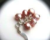 Custom Order - Pink Pearl Earrings in Sterling Silver