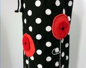 RESERVED- Poppy Dot Yoga Mat Bag for pink2chocolate