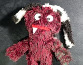 """One of a Kind One toothed Dreadlock Plush Monster Doll """"CREEPS"""" 2015"""