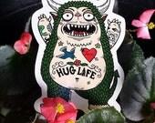 Hug Monster Die Cut Vinyl Sticker
