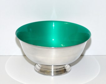 Mid Century Modern Reed And Barton Silver & Enamel Revere Bowl