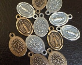 Craft Supplies, Miraculous Medal Charms, Small Catholic Medals, Rosary Supplies, Rosary parts