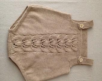 Baby romper in cotton