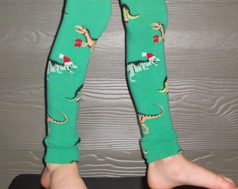 Sale - Leg or Arm Warmers for Boys, Girls - Christmas Dinosaur Leggings - Infant, Baby, Toddler, Kid - Great Holiday Photo Accessory or Gift