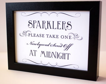 Sparkler Send Off Sign Printable DIY Digital File PDF Favor Signage Wedding Do it Yourself 8x10 and 5x7 Fancy
