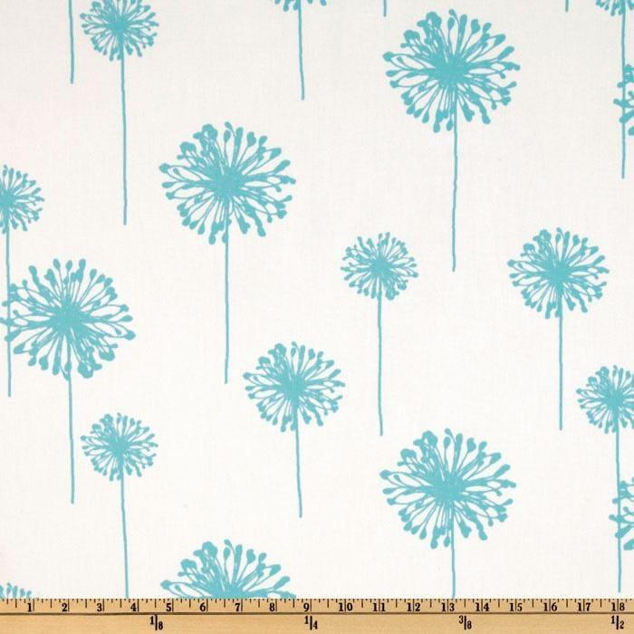 Premier Prints Dandelion Girly Blue Twill 1 YARD