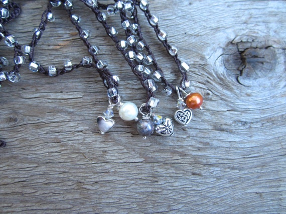Special listing for Cheryl little heart charm necklace with pearl