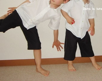 KIDS TROUSERS - PDF e Pattern - Bermuda Shorts - Size 9Y