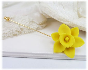 Daffodil Brooch or Stick Pin - Daffodil Jewelry Collection