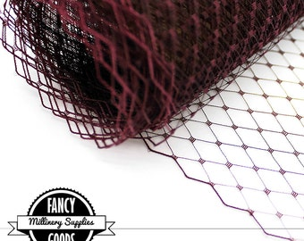 Burgundy Veiling - Netting - Russian / French - 1 Yard
