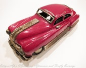 Vintage Tin Toy Car Japanese 1960s MIJ Made in Japan, Red