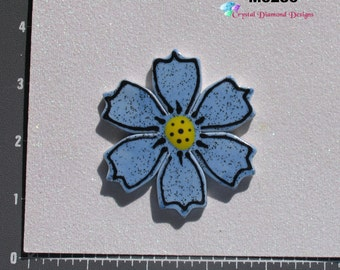 Blue Flower - Kiln Fired Handmade Ceramic Mosaic Tiles M3286