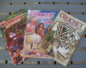 Set of 3,Annie's Crochet Newsletter,Annie's Attic, Number 22, Number 64,Number 95,Patterns,Supplies,Crafts
