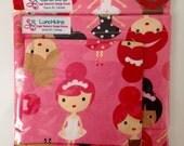 3Pce Set Pink DANCER BALLERINA Re-Usable Snack Bags FREESHIP Canada Velcro or Zipper  Closure
