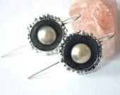 June Stone - Pearl Earrings, Pearl Drop Earrings, Dangle Pearls, Pearl Jewelry, White Pearl Earrings, Sterling Jewelry, Bridal Earrings
