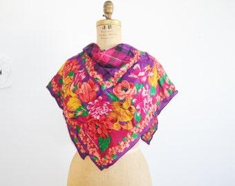 Adrienne Vittadini  silk scarf floral