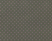 SALE fabric, Heather Bailey Fabric Lottie Da by Fabric Shoppe, - Lottie Dot in Charcoal- Choose your Cut. Free Shipping Available