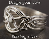 Customize your own 6 band puzzle ring in sterling silver