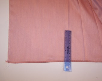 "2.75 Yards~ADO Seamless 118""wide Decor Texture FABRIC-Seamless 118""wide-Salmon-Polyester w/ Eurohem-Lead Lace Hem-NLA"