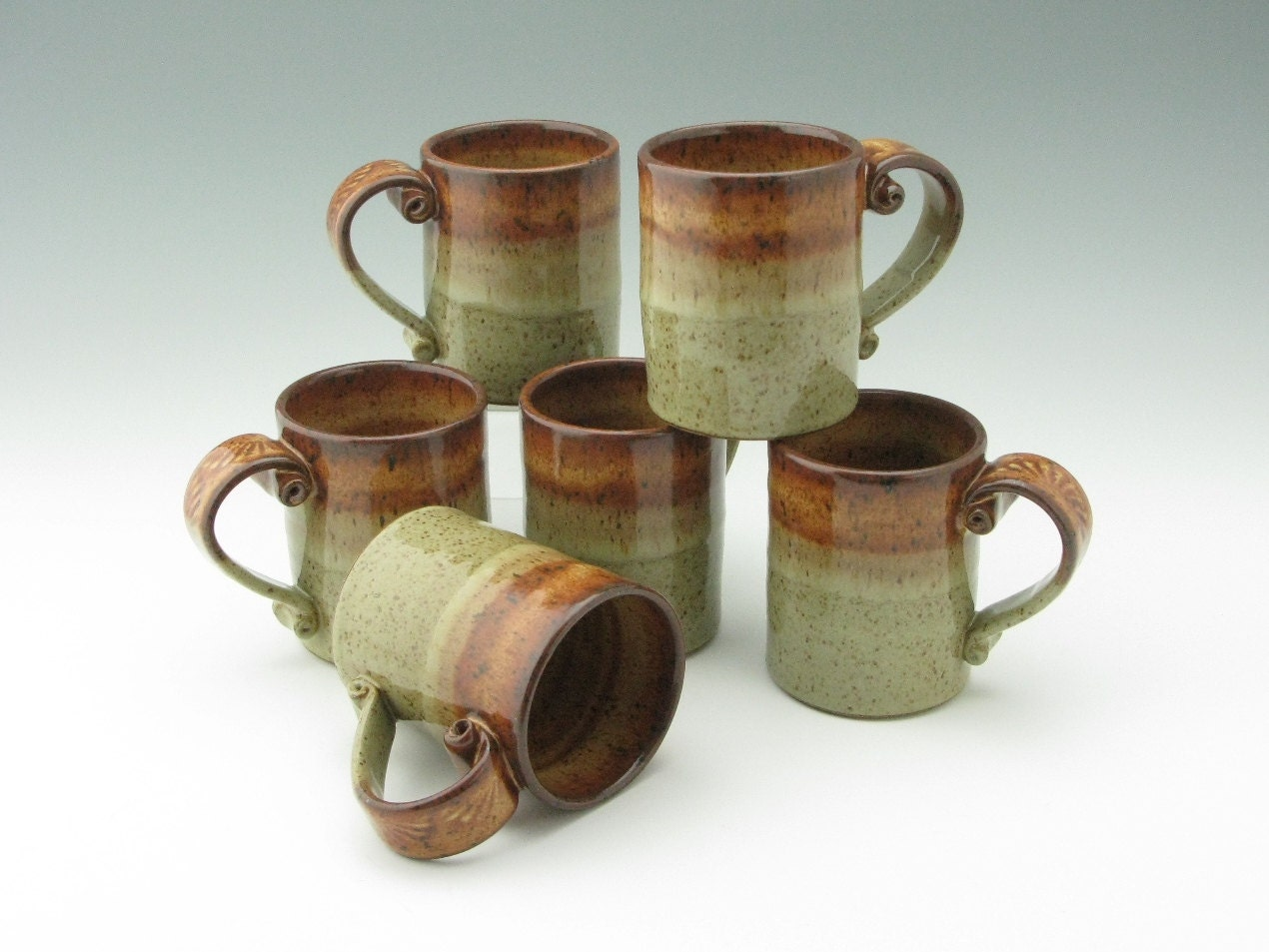 Handmade pottery coffee mug ceramic 12 oz tea mug honey and Unique coffee cups mugs