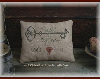 Key To My Heart Valentine Pillow Keep E-Pattern PDF