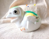 Vintage Baby Peep Chick Planter remade into Pin Cushion