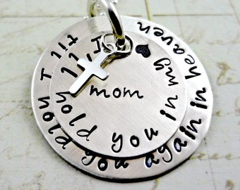 Memorial Remembrance Necklace I'll Yold You In My Heart -  Hand Stamped - Baby  Mom Dad Spouse Friend - Death Miscarriage