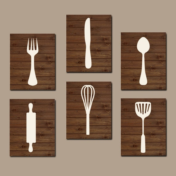 Kitchen wall art kitchen cooking utensils wall art by for Kitchen picture decor