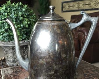 Vintage Silver Plate Silverplate Teapot Coffee Pot TYCAALAK