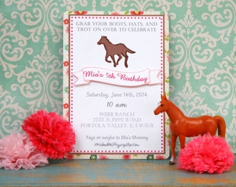 The Vintage Horse Show Collection - Custom Invitations from Mary Had a Little Party