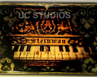 Steinway Steampunk Piano Canon Print on Glossy Plaque P-32C by Michael BrownUC Studios