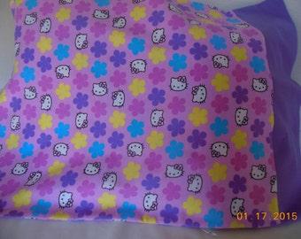 Hello Kitty Flannel Pillowcase