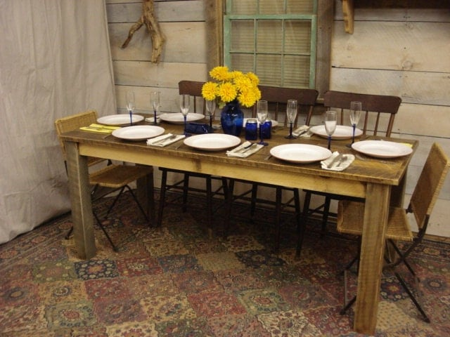 Rustic dining room table 72 x 30 x 30 for Dining room tables 36 x 72