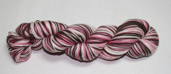 Neapolitan Self Striping Hand Dyed Sock Yarn